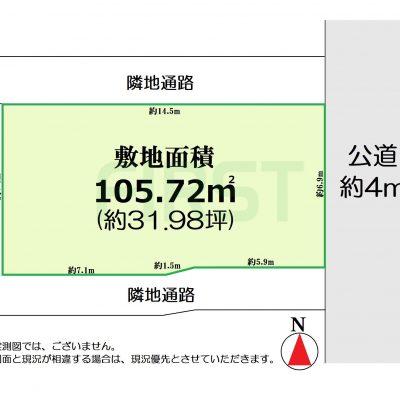 敷地面積31.98坪の整形地