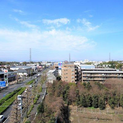 ルーフバルコニーからの西側眺望